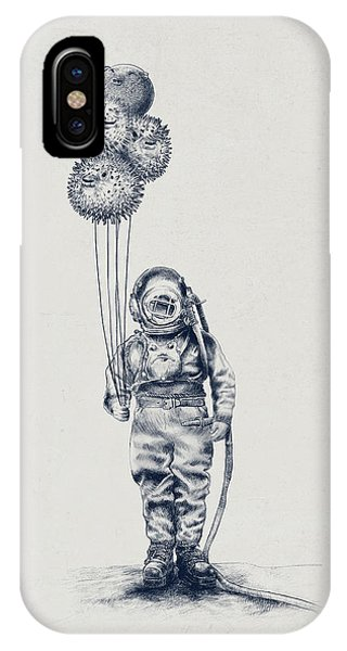 Illustration iPhone Case - Balloon Fish Option by Eric Fan