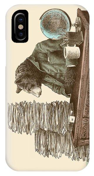 Illustration iPhone Case - Bearocrat by Eric Fan