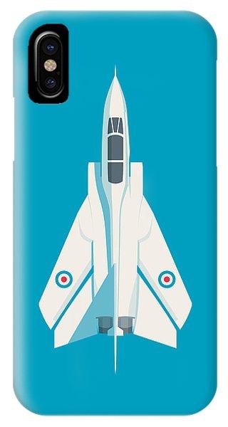 Military iPhone Case - Tornado Swing Wing Jet - Cyan by Ivan Krpan