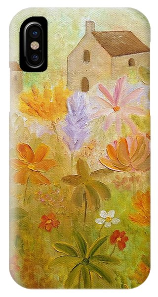 IPhone Case featuring the painting Hidden Folk by Angeles M Pomata