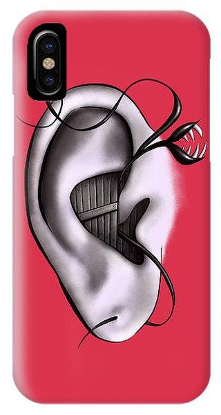 Dark Humor iPhone Case - Weird Ear Monster Digital Art by Boriana Giormova