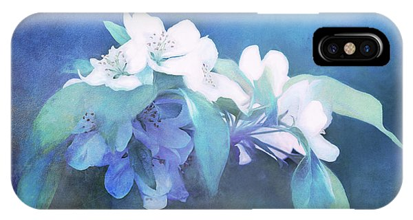 Painted Crabapple Blossoms IPhone Case