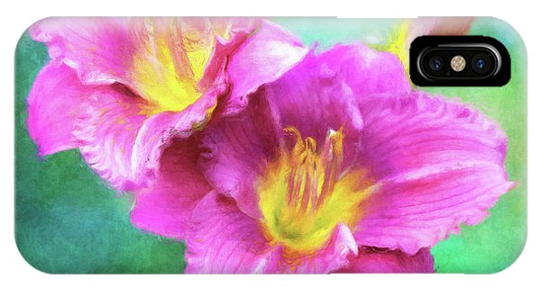 Dynamic Daylily Duo IPhone Case