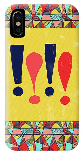 Exclamations Pop Art IPhone Case