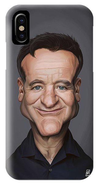 Robin Williams Comedian iPhone Case - Celebrity Sunday - Robin Williams by Rob Snow