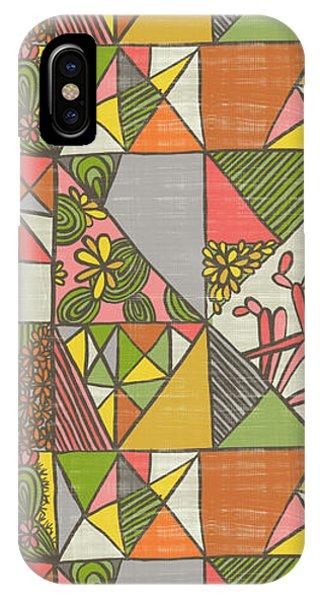 Geometric Flowering Cacti IPhone Case