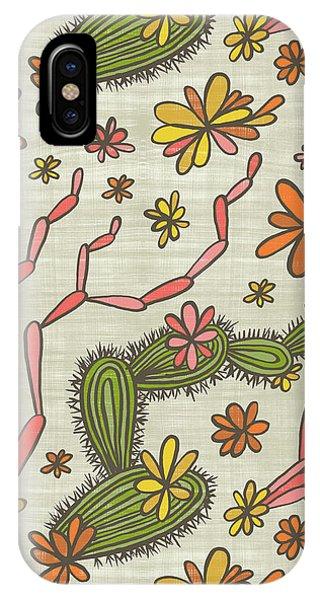 Flowering Cacti Elements IPhone Case