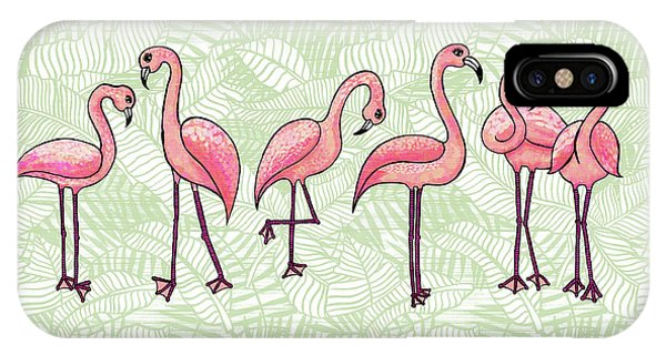 Tropical Flamingos IPhone Case