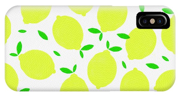 Sunny Lemon Pattern IPhone Case