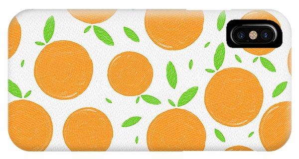 Sunny Citrus Pattern IPhone Case
