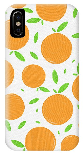Sunny Citrus Pattern IPhone Case