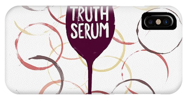 Truth Serum Wine Art IPhone Case