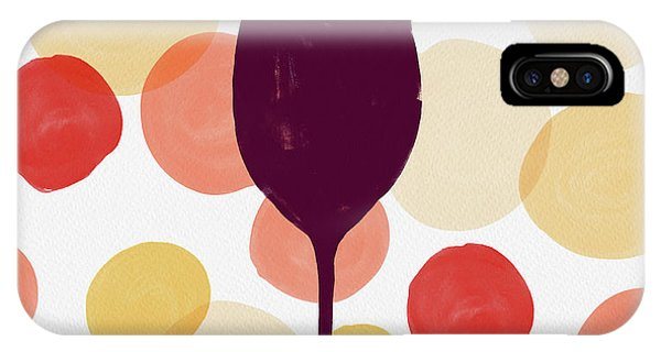 Bold Modern Wine Glass Art IPhone Case