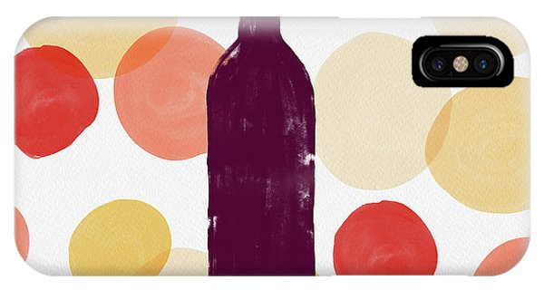 Bold Modern Wine Bottle Art IPhone Case
