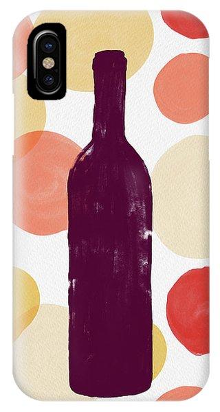 Bold Modern Wine Bottle Art IPhone Case