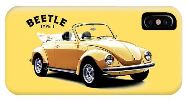 Volkswagen iPhone Case - Vw Beetle 1972 by Mark Rogan