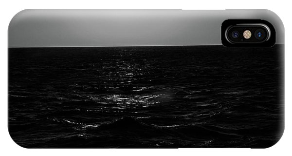 Aruba Sunset In Black And White IPhone Case