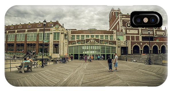 IPhone Case featuring the photograph Asbury Park Convention Hall by Steve Stanger