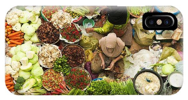 Fair iPhone Case - Asian Vegetable Market In Kota Bharu by Szefei