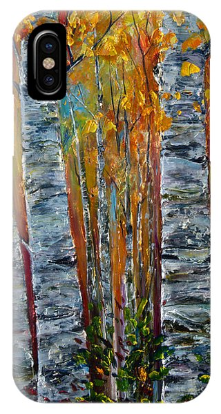 IPhone Case featuring the photograph Aspen Trees By Olena Art by OLena Art