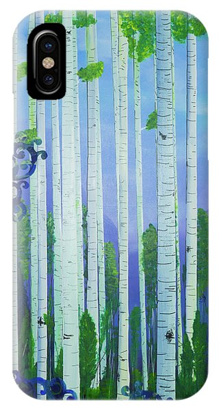 Aspens In Summer IPhone Case