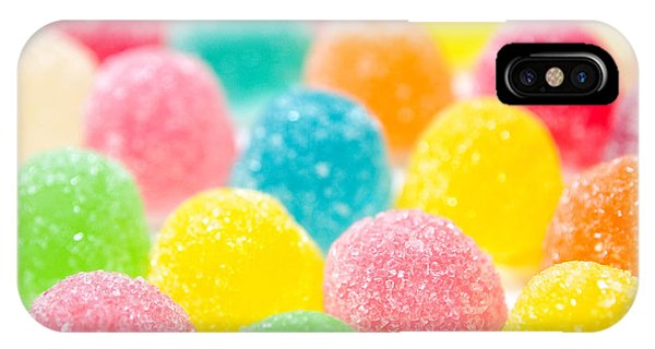 Eating iPhone Case - Assortment Of Colorful Fruit Jelly Candy by Nixx Photography
