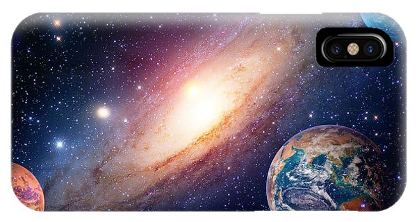 Earth Orbit iPhone Case - Astrology Astronomy Earth Outer Space by Nikonomad