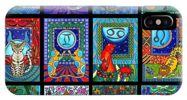 Astrology Cat Zodiacs IPhone Case