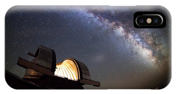 Dome iPhone Case - Astronomical Observatory Under The Stars by Smilyk Pavel