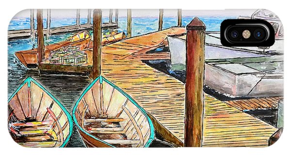 At The Dock In Gloucester Massachusetts IPhone Case