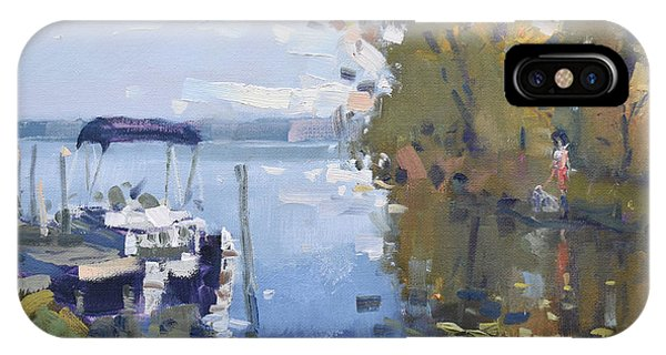 Docked Boats iPhone Case - At The Dock by Ylli Haruni