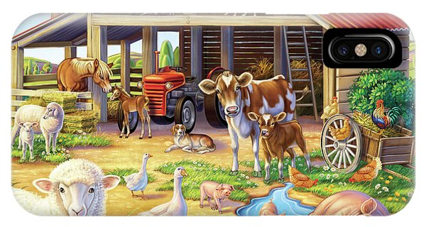 At The Farm IPhone Case