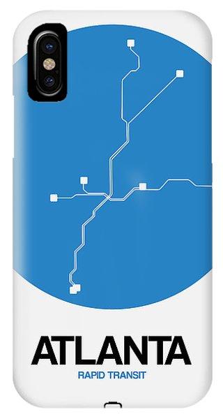 Georgia iPhone Case - Atlanta Blue Subway Map by Naxart Studio