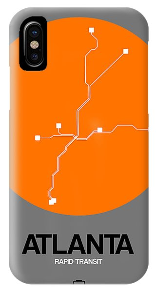 Georgia iPhone Case - Atlanta Orange Subway Map by Naxart Studio