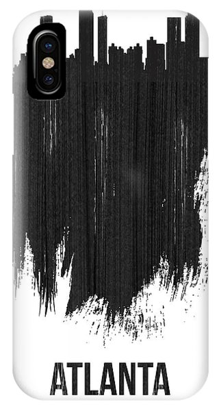 Georgia iPhone Case - Atlanta Skyline Brush Stroke Black by Naxart Studio