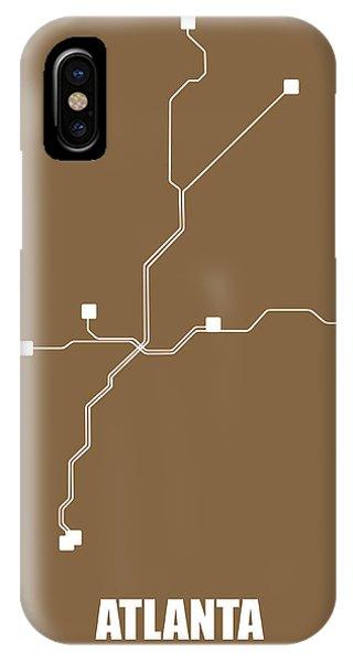 Georgia iPhone Case - Atlanta Subway Map 2 by Naxart Studio