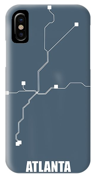 Georgia iPhone Case - Atlanta Subway Map by Naxart Studio