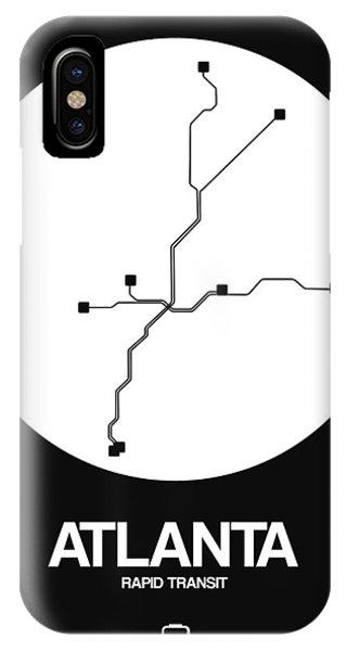 Georgia iPhone Case - Atlanta White Subway Map by Naxart Studio