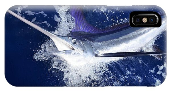 Fins iPhone Case - Atlantic White Marlin Big Game Sport by Lunamarina