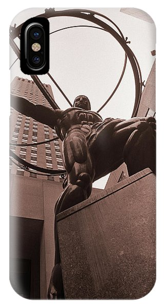 Ayn Rand iPhone Case - Atlas by Craig Brewer