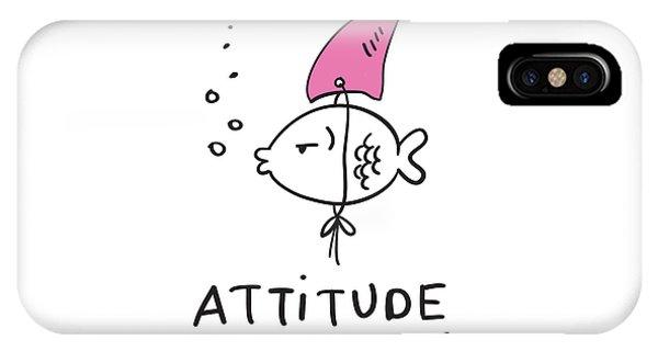 Attitude - Baby Room Nursery Art Poster Print IPhone Case