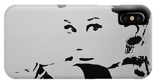 iPhone Case - Audrey B W by Rob Hans