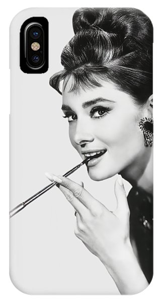 Leading Actress iPhone Case - Audrey Hepburn As Holly Golightly 1961 - T-shirt by Daniel Hagerman