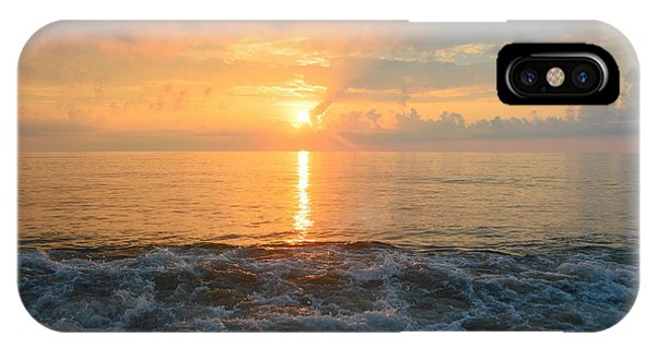 IPhone Case featuring the photograph August Obx Sunrise by Barbara Ann Bell
