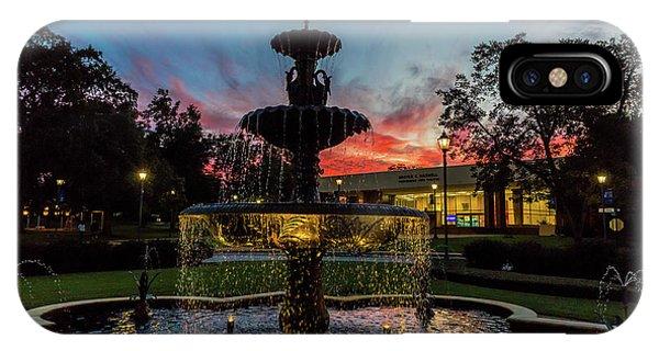 Augusta University Fountain Sunset Ga IPhone Case