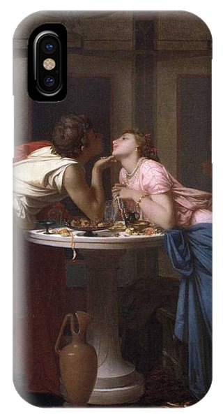 Courthouse iPhone Case - Auguste Toulmouche  1829-1890   A Classical Court - 1853 by Celestial Images
