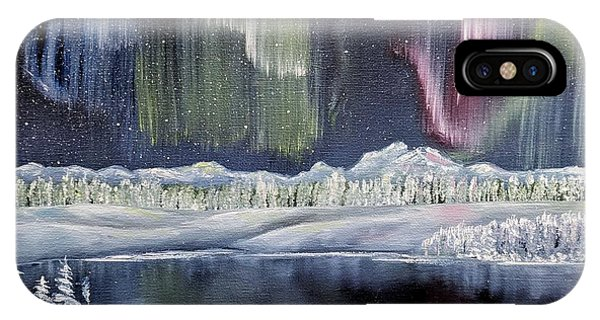 IPhone Case featuring the painting Aurora Borealis by Deleas Kilgore