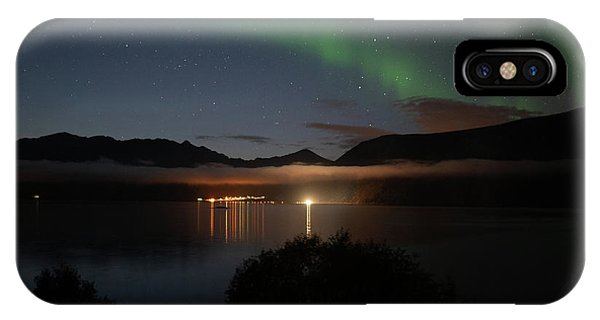 Aurora Northern Polar Light In Night Sky Over Northern Norway IPhone Case
