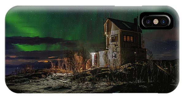Aurora Over The Radio Station IPhone Case