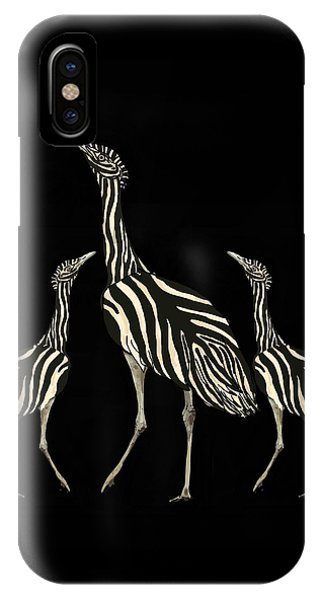 iPhone Case - Australian Bustard Zebra 2 by Joan Stratton